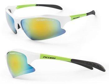 Okulary Alliance biało-zielone, dwie pary soczewek