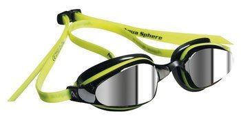 Aquasphere okulary K180 mirror yellow-black