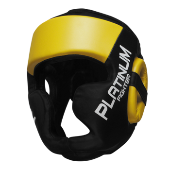 Beltor kask sparingowy Platinum Fighter Guardian czarno-żółty
