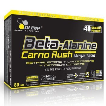 Beta Alanine carno Rush Mega Tabs 80 tabletek