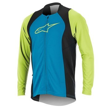 Koszulka Alpinestars DROP 2 FULL ZIP bright blue-green 1766817-7060
