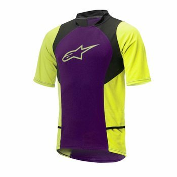 Koszulka Alpinestars DROP 2 purple-acid yellow 1766315-386
