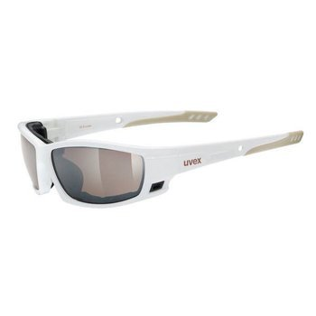 Okulary UVEX SGL 300 white brown z szybą mirror brown