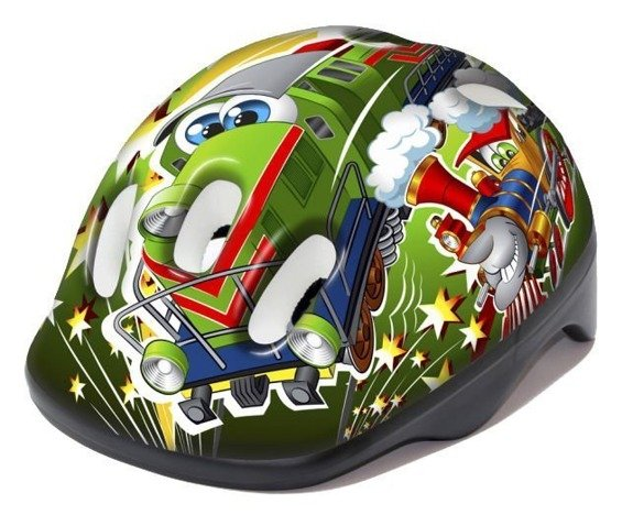 Kask B-Skin KIDY TRAINS zielony