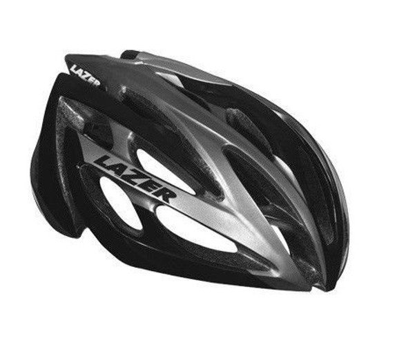 Kask szosa LAZER O2 RD New black grey 53-61 cm