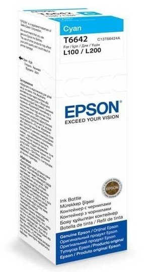 Tusz Epson T6642 CYAN 70ml butelka do L100-110-200-210-300-355-550