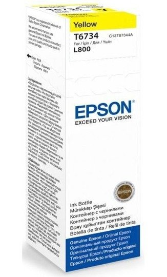 Tusz Epson T6734 Yellow butelka 70ml do L800 L810 L850 L1800