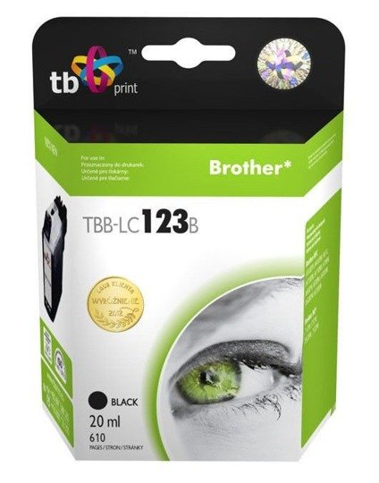 Tusz TB Print do Brother LC123 Black TBB-LC123B